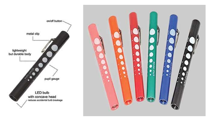 Rainbow-Color-6-Disposable-Penlights