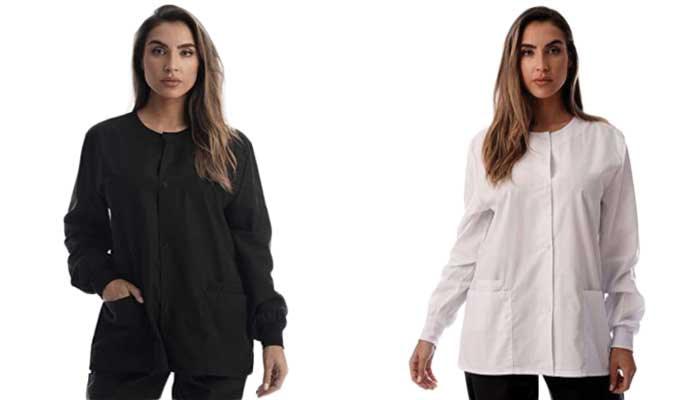 Best-for-Price-Womens-Solid-Jacket-Uniform-Coat